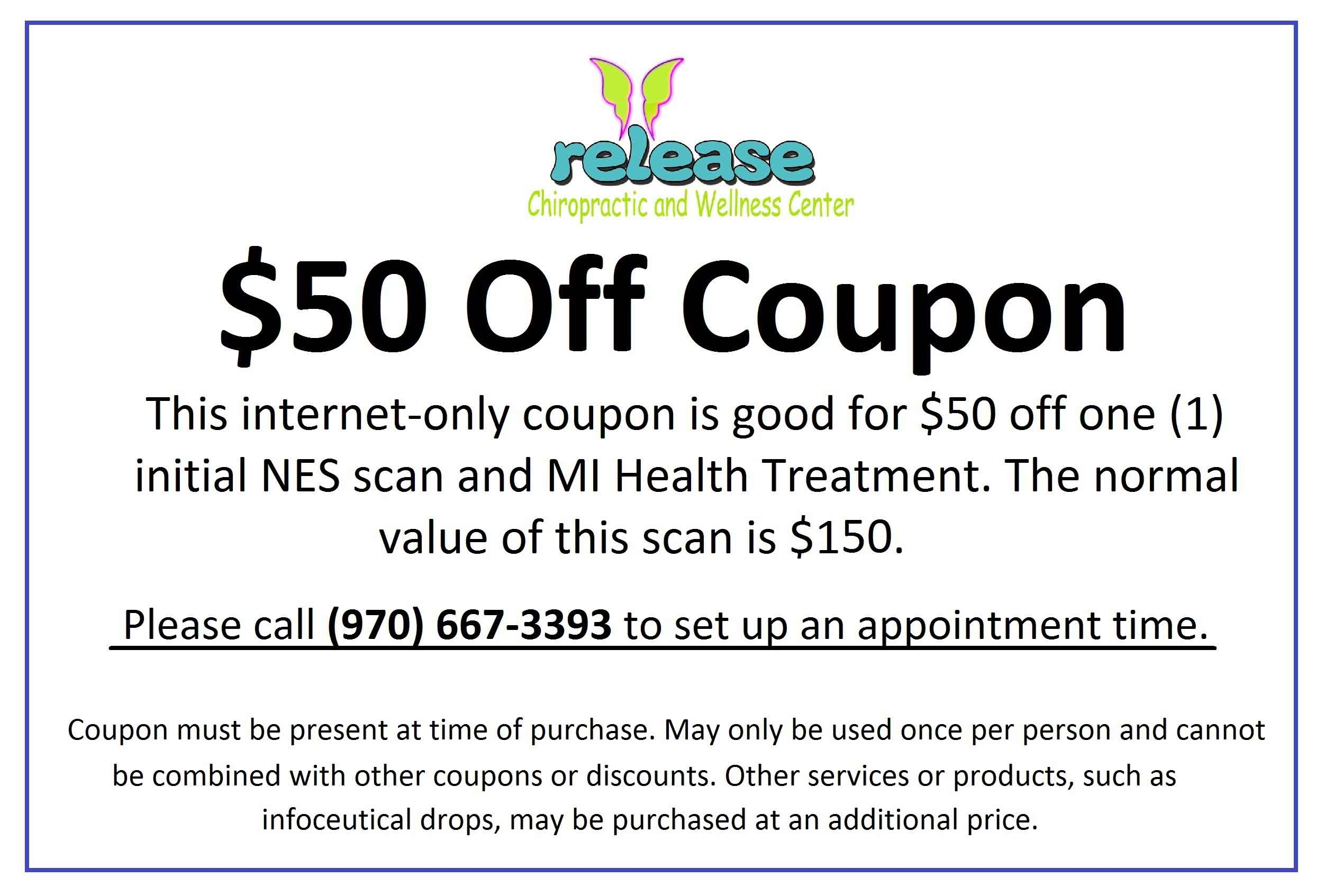 $50 Off Initial NES Scan Coupon